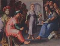 christ among the doctors by peter wtewael