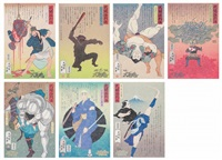 the lives of the fighters (set of 7) by hisashi tenmyouya