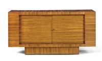 a zebrawood sideboard, circa 1938 by jean royère