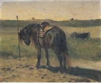 cavallo nel paesaggio by giuseppe raggio