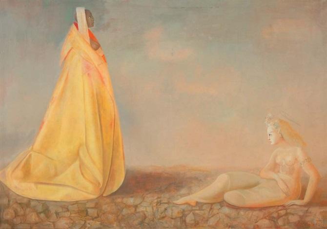 deux femmes by leonor fini