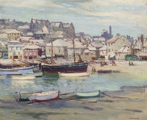 st ives harbour by leonard richmond