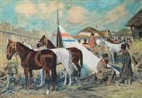 marché des chevaux en ukraine by julius holzmueller