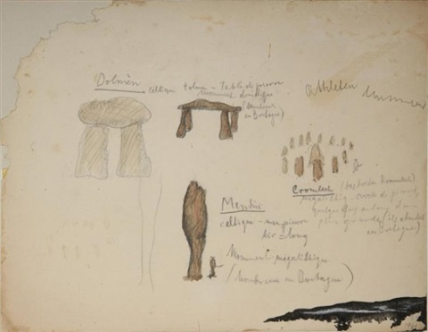 etude de dolmens et menhirs study by wols