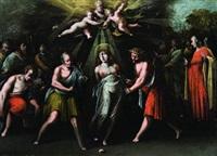 martirio di santa caterina d'alessandria (+ martirio di santa agata; 2 works) by ercole dell' abbate