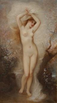 jeune femme nue, allégorie by andré charles voillemot