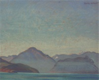 summer haze, howe sound, british columbia by charles hepburn scott
