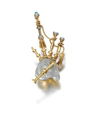 a brooch designed as bagpipes by chaumet