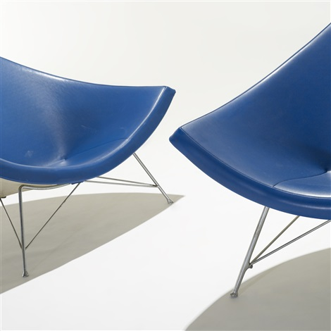 coconut chairs pair by george nelson associates