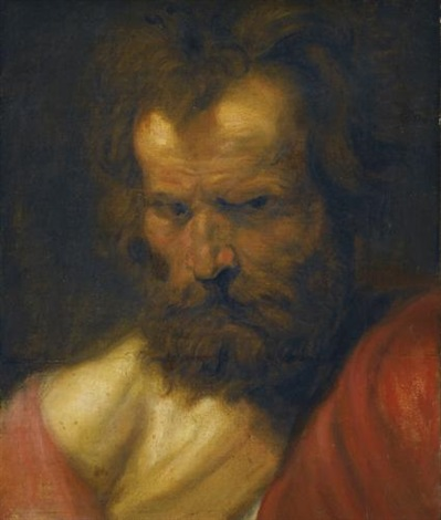 study of a bearded man by sir anthony van dyck