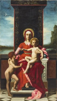 the virgin and child with st. john the baptist by ferdinand jacques humbert