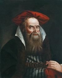 porträt eines alten orientalen by giovanni raggi
