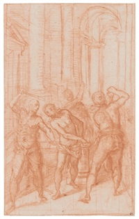 the flagellation of christ by girolamo muziano
