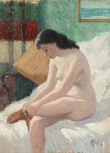 a nude woman by helge helme