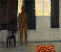 nude in a room by jan rauchwerger