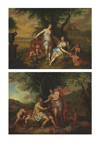 an allegory of autumn an allegory of summer pair by franz christoph janneck