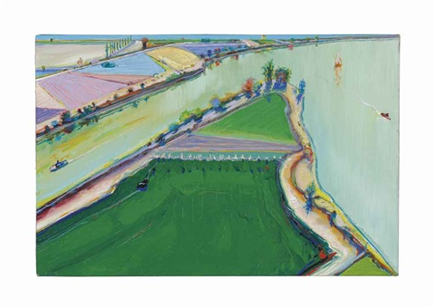 river boats by wayne thiebaud
