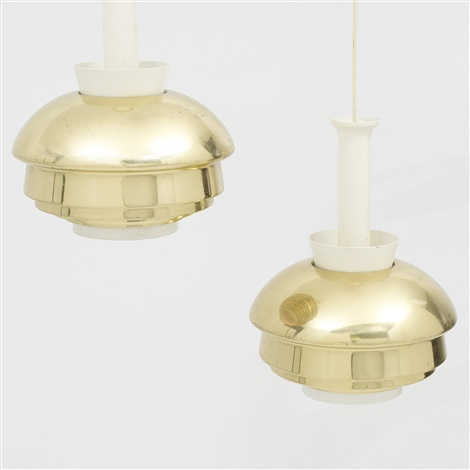 pendant lamps model a 335 pair by alvar aalto