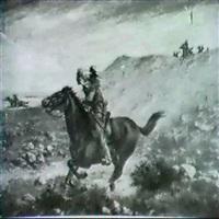 indians on horseback by henry metzger
