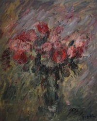 bouquet de roses rouges by pierre gogois