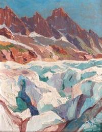 mer de glace by louis eugène glasser