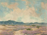 desert landscape in bloom by harry c. smith