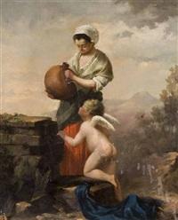 angelot à la fontaine by kazimierz alchimowicz
