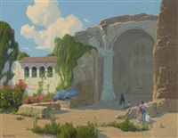 visitors to mission san juan capistrano by elmer wachtel