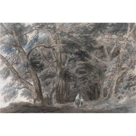la galleria di sopra above lake albano italy by john robert cozens