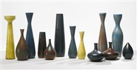 collection of thirteen vases (set of 13) by carl-harry stålhane