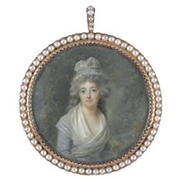 portrait of madame lescot by lié-louis périn-salbreux
