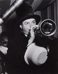 trumpet blower by weegee