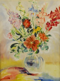 bouquet of flowers in vase by e.e. cummings