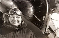 pilot polina osipenko, hero of the soviet union by mark markov-grinberg