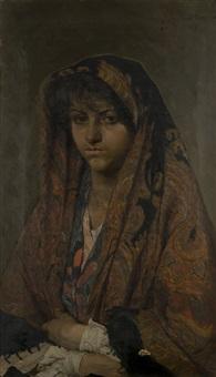 ritratto di giovane popolana by francesco jacovacci