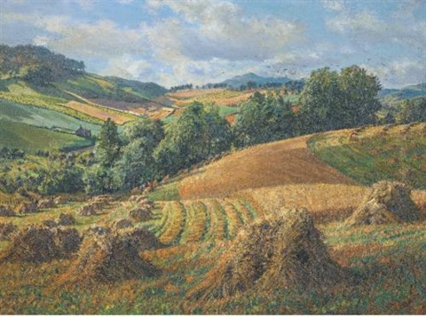landscape with harvesters by james mcintosh patrick