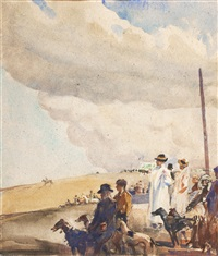 coursing, waterloo cup by frederic whiting