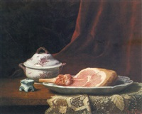 still life with ham and soup tureen by charles hutin