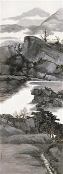 松山图 (landscape) by fang ruo