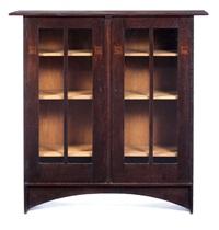 rare double-door bookcase by harvey ellis