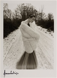 katherine pastrie, snow and fur by norman parkinson