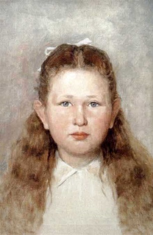 portrait of the artist's daughter, eliza by edward van goethem