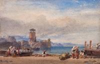 mediterranean harbour scene by william leighton leitch