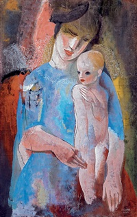 mother with child by béla kádár