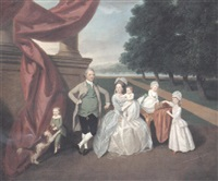 portrait of the ashby family of isleworth and bromley by daniel dodd