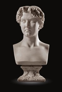 bust of william alexander louis stephen douglas-hamilton, marquess of douglas (1845-1895) by antoine laurent dantan