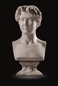 bust of william alexander louis stephen douglas-hamilton, marquess of douglas (1845-1895) by antoine laurent dantan