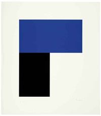 blue and black i by ellsworth kelly