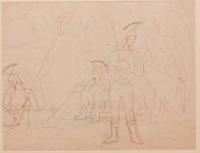 la résurrection, étude pour la décoration de la chapelle saint-blaise-des-simples de milly-la-forêt by jean cocteau