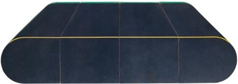 assonometria blu in 4 parts by rodolfo aricò